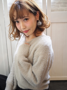 可愛い耳かけボブ☆ Hip's deco 大宮店のヘアスタイル