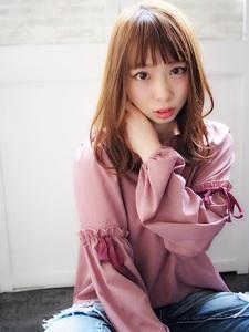 小顔に魅せる☆こなれセミディ|Hip's deco 大宮店のヘアスタイル