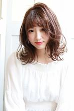 ふんわり可愛い☆ミディアムロブ|Hip's deco 大宮店のヘアスタイル