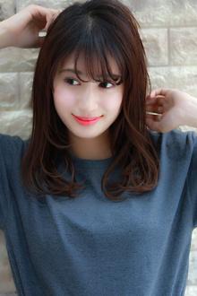 暗髮 愛されセミディ☆小顔ヘア◎|Hip's deco 大宮店のヘアスタイル