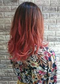 ピンクグラデーションカラー☆