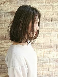 すきまたっぷり♪柔らかロブ☆|Hip's deco 大宮店のヘアスタイル