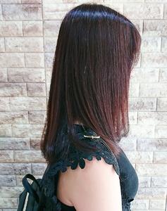 光色ピンクカラー×シルキーストレート|Hip's deco 大宮店のヘアスタイル