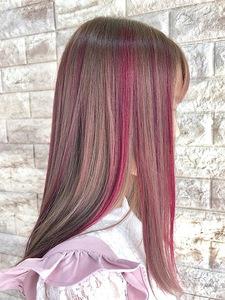 PINK color|Hip's deco 大宮店のヘアスタイル