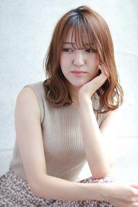 小顔ひし形シルエット☆外ハネミディアム
