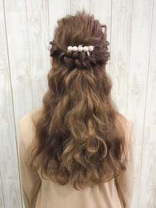 結婚式・二次会☆ハーフアップスタイル|Hip's heads 宮原店のヘアスタイル