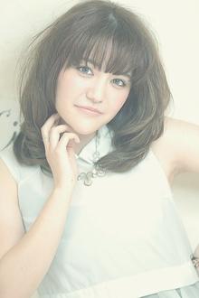 ふんわり可愛いミディアムカール☆|Cia birthのヘアスタイル
