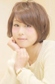 斜めバング×ふわくしゅショートボブ☆|Cia birthのヘアスタイル