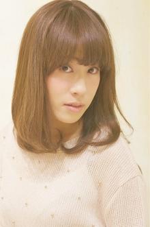ナチュラルミディ☆|Cia birthのヘアスタイル