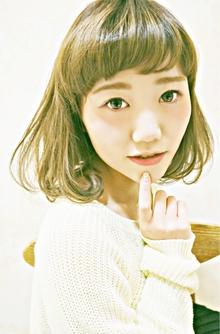 大人可愛い☆重めバング前下がりのゆるふわショート|Cia birthのヘアスタイル