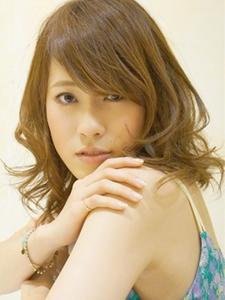 長めバングとラフなカールセミディ☆|Cia birthのヘアスタイル