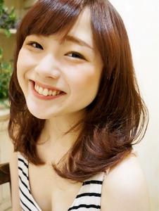 プラムカラー☆ワンカールセミディ|Cia birthのヘアスタイル
