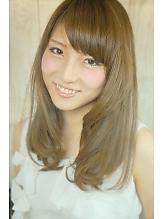 重めバングが可愛いシースルーヘア☆リラックスカール^^☆|Cia birthのヘアスタイル
