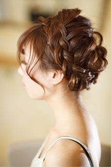 ☆結婚式&二次会に ルーズな編み込みアップ☆|Cia birthのヘアスタイル