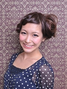 カジュアルなカール カールサイドアップ☆彡 Carat hair makesのヘアスタイル