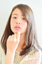 大人可愛い☆透明感ストレート|Canna hair maisonのヘアスタイル
