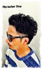 ワイルドなリバースパーマ|Ohp barber Shop のメンズヘアスタイル