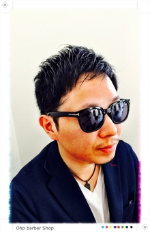清潔感のある短めバング|Ohp barber Shop のヘアスタイル
