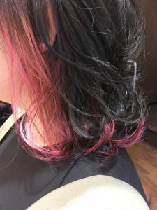 ポイントフラミンゴカラー|flagのヘアスタイル