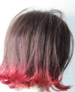 外ハネボブ/ラインカラー(ピンク)|flagのヘアスタイル