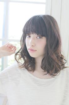 ☆ルーズ感際立つカジュアルミディ☆|For evolveのヘアスタイル