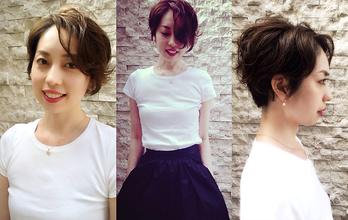 耳を出した短いショート。|hair Launge TRiPのヘアスタイル