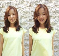 柔らかい雰囲気のミディアムのパーマスタイル。|hair Launge TRiPのヘアスタイル