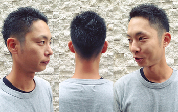 爽やかさと機能性を兼ね備えたベリーショートヘア。|hair Launge TRiPのメンズヘアスタイル