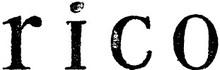 rico  | リコ  のロゴ