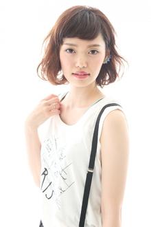 耳かけ×ゆるふわパーマでで超絶可愛いショートボブ☆|liberateのヘアスタイル
