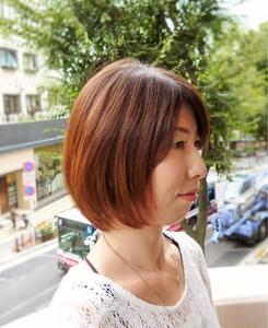【Chair】ラウンドグラデーションボブ|Chair hair spa nailのヘアスタイル