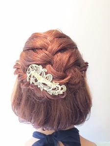 【Chair 】パーティセット☆ボブアレンジ|Chair hair spa nailのヘアスタイル