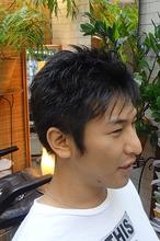 清潔感のあるショートスタイル|M-HAIRのメンズヘアスタイル