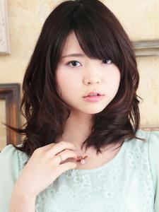 男子も振り返る!?ミディアムレイヤーパーマ☆|hair ARKS 上大岡店のヘアスタイル