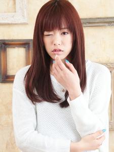 ストレートなのに柔らかミックスナチュラルスタイル☆|hair ARKS 上大岡店のヘアスタイル