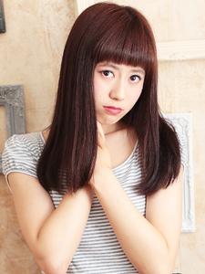 ナチュラルストレートのツヤツヤ☆セミディ☆|hair ARKS 上大岡店のヘアスタイル