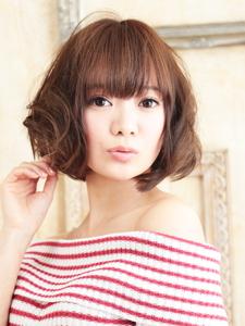 ♪ミックスウェーブ♪で作るウェービー♪ボブ♪|hair ARKS 上大岡店のヘアスタイル