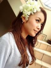 外国人風★フラワーHAPPYガール COVO 櫛田 恵美のヘアスタイル
