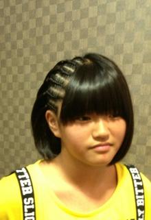 ハーフストレート★コーンロー COVOのヘアスタイル