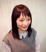 斜めバングヘア|Cierge 新丸子店のヘアスタイル