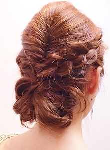 編み込みアップ|Cierge 新丸子店のヘアスタイル