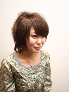 ミディアムショート Cierge 新丸子店のヘアスタイル