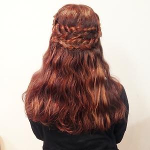 編み込み波ウェーブセット|Cierge 新丸子店のヘアスタイル