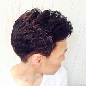 アップバングパーマ|Cierge 新丸子店のヘアスタイル
