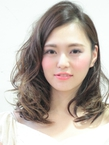 マリーゴールドカラーでハイライト☆ゆるセミロング|hair salon Hiviraのヘアスタイル