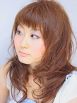 短めバング☆カジュアルゆるパーマスタイル|hair salon Hiviraのヘアスタイル