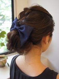 ざっくり編み込みヘアセット