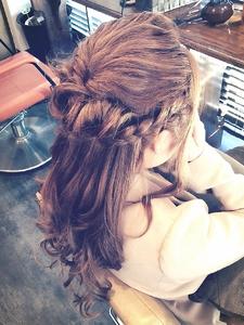 ゆるふわハーフアップ|Ricca hairのヘアスタイル