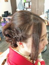 編み込みリボン☆成人式スタイル|Ricca hairのヘアスタイル