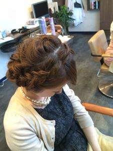 編み込みアップ|Ricca hairのヘアスタイル